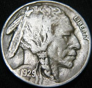 ORIGINAL 1929 S BUFFALO NICKEL 5 COMBINED S&H ON MULTIPLE ITEMS GK73MB