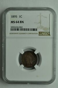 1895 INDIAN HEAD CENT   NGC MS64 BN