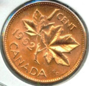 CANADA 1962 PENNY 1 CENT CANADIAN
