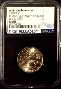 Click now to see the BUY IT NOW Price! SALE   2018 D INNOVATION $1 NGC MS68 FIRST RELEASES WASH 1ST PATENT CENSUS   18