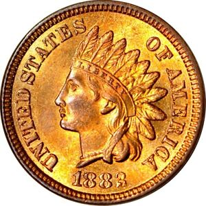 1882 1C INDIAN HEAD CENT CHOICE UNC RB  K11039