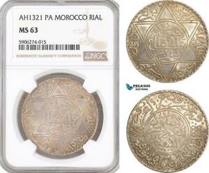 Click now to see the BUY IT NOW Price! AF581 MOROCCO ABD AL AZIZ 1 RIAL AH1321 PA PARIS SILVER NGC MS63