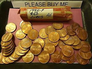 1995 P ROLL OF PENNIES       RED CIRCS       C/S AVAILABLE