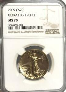 Click now to see the BUY IT NOW Price! 2009 $20 GOLD ULTRA HIGH RELIEF UHR SAINT GAUDENS NGC MS 70 BOX BOOK COA