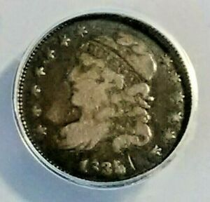 1835 CAPPED BUST HALF DIME ANACS F 15  COLLECTORS COIN LOT 09/50