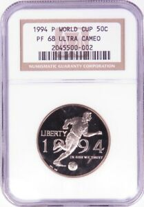 1994 P WORLD CUP COMMEMORATIVE HALF DOLLAR NGC PF68 ULTRA CAMEO LF0719A/JH
