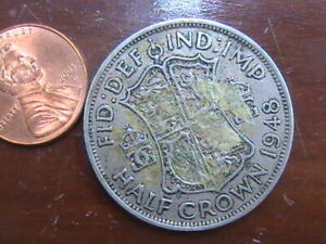 UK GREAT BRITAIN 1948 1/2 CROWN COIN