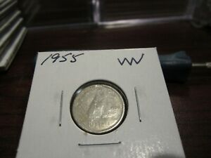 1955   CANADA 10 CENT COIN   CANADIAN DIME   CIRCULATED