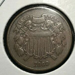1869 TWO CENT TYPE COIN   BETTER DATE