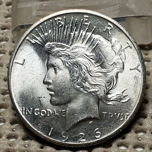1926 PEACE DOLLAR SILVER COIN CHOICE UNC DETAILS GEM BLAZING LUSTER NICE COIN