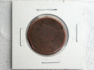 1843 LARGE ONE CENT COPPER PENNY US COIN