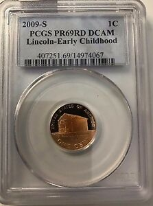 2009 S EARLY CHILDHOOD LINCOLN CENT PCGS PR69 RD DCAM