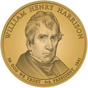 2009 D W H HARRISON PRESIDENTIAL DOLLAR BRILLIANT UNCIRCULATED FROM MINT ROLL