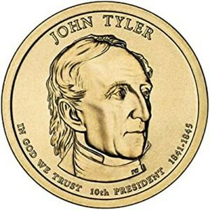 2009 D J TYLER PRESIDENTIAL DOLLAR BRILLIANT UNCIRCULATED FROM MINT ROLL
