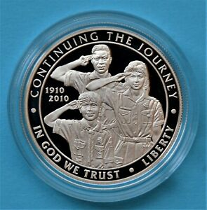 2010 P BOY SCOUTS SILVER DOLLAR  PROOF