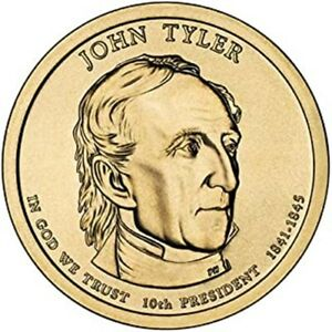 2009 P J TYLER PRESIDENTIAL DOLLAR BRILLIANT UNCIRCULATED FROM MINT ROLL