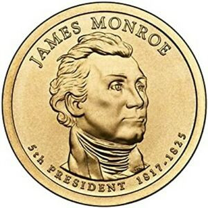 2008 D J MONROE PRESIDENTIAL DOLLAR U S MINT COIN BRILLIANT MS