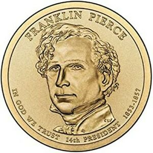 2010 P FRANKLIN PIERCE PRESIDENTIAL DOLLAR U S MINT COIN BRILLIANT MS