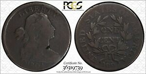 1804 DRAPED BUST LARGE CENT PCGS SECURE G DETAIL S 266B KEY DATE  MDS