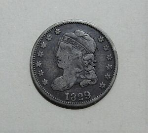 1829 CAPPED BUST HALF DIME DIME   VF