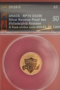 2018 S PF 70 REVERSE PROOF LINCOLN SHIELD CENT FIRST RELEASE ANACS SLAB OCE 517