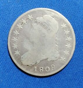 1809 CAPPED BUST HALF CIRCULATED CONDITION