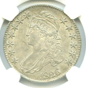 1826 CAPPED BUST HALF DOLLAR NGC MS64