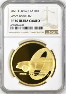 Click now to see the BUY IT NOW Price! 2020 GOLD PROOF JAMES BOND 007 200 POUND COIN NGC TOP PF70UCAM & ROYAL MINT BOX