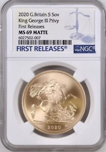 Click now to see the BUY IT NOW Price! 2020 GOLD FIVE POUNDS  5 5 SOVEREIGN  GEORGE III PRIVY NGC MS69 MATTE FIRST R