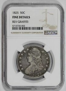 1826 50C SILVER CAPPED BUST HALF DOLLAR NGC GOOD DETAILS