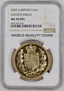 Click now to see the BUY IT NOW Price! GREAT BRITAIN 2002 GOLD 5 POUNDS SOVEREIGN ELIZABETH II NGC MS70 DPL MINT 1 370
