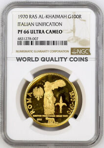 Click now to see the BUY IT NOW Price! RAS AL KHAIMAH UAE 1970 GOLD 100 RIYALS CENTENNIAL OF ROME AS CAPITAL NGC PF66