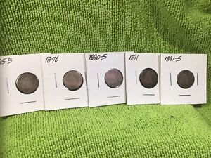 1853 W/ARROWS 1876 1890 S 1891 & 1991 S SEATED LIBERTY DIMES POOR / AG