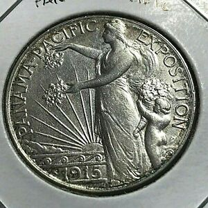 Click now to see the BUY IT NOW Price! 1915 PANAMA PACIFIC SILVER HALF DOLLAR COMMEMORATIVE HIGH GRADE COIN