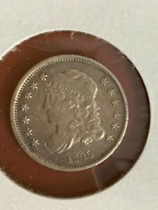 1835 BUST HALF DIME HIGH GRADE SPOTS ON REVERSE