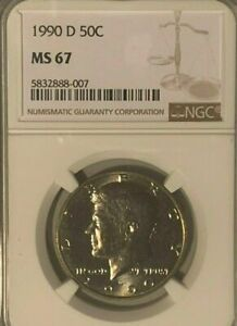 Click now to see the BUY IT NOW Price! 1990 D KENNEDY NGC CERTIFIED MS 67 NGC PRICE GUIDE $750 TOP POP 1 OF 44