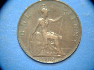 GREAT BRITAIN PENNY KM 794.2 1905    A1051     I COMBINE SHIPPING