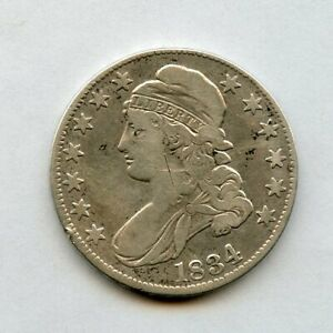 1834 50C CAPPED BUST HALF DOLLAR GRAFITTI & CLEANING