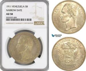 Click now to see the BUY IT NOW Price! AG442 VENEZUELA 5 BOLIVARES 1911 PARIS SILVER