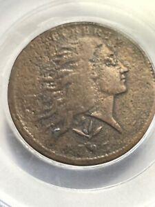1793 WREATH CENT 1C LARGE CENT PCGS CERTIFIED VINE AND BARS EDGE