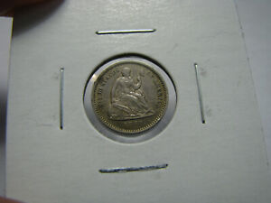 1862 US SEATED LIBERTY HALF DIME COIN