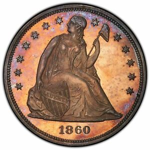 1860 $1 LIBERTY SEATED DOLLAR   PCGS PR64 SUPERB SURFACES