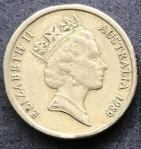 ORIGINAL 1989 AUSTRALIAN $2 TWO DOLLAR COIN   CIRC
