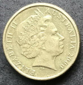 ORIGINAL 2000 AUSTRALIAN $2 TWO DOLLAR COIN   CIRC