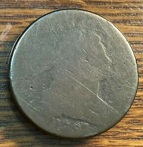 1797 DRAPED BUST LARGE CENT AG NICE PLANCHET S 137 BELOW GREYSHEET CHN
