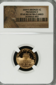 2009 S BRONZE 1C PRESIDENCY PF 69 RD ULTRA CAMEO LINCOLN BICENTENNIAL CENT PENNY