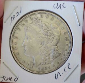 MORGAN SILVER DOLLAR 1921 BETTER GRADE SLIDER UNC MINT ERROR STRIKE THROUGH