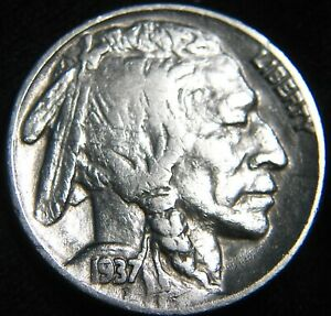1937 P BUFFALO NICKEL 5    PRIOR CLEANING   COMBINED S&H ON SAME INVOICE GZ78IV
