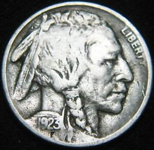 TOUGHER DATE 1923 S BUFFALO NICKEL 5 COMBINED S&H ON SAME INVOICE HA104MK