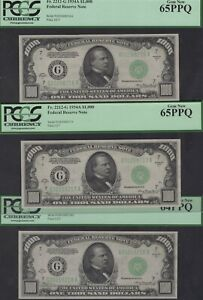 Click now to see the BUY IT NOW Price! 1934A 1000 PCGS65GEM TRIO   500 1000 DOLLAR BILL
